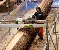 Cutting planks from a log