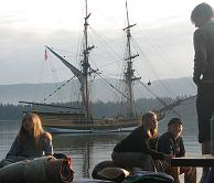 The Lady Washington with young people